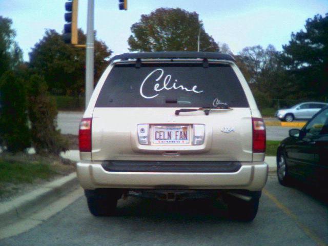 Image of Celine fan's car