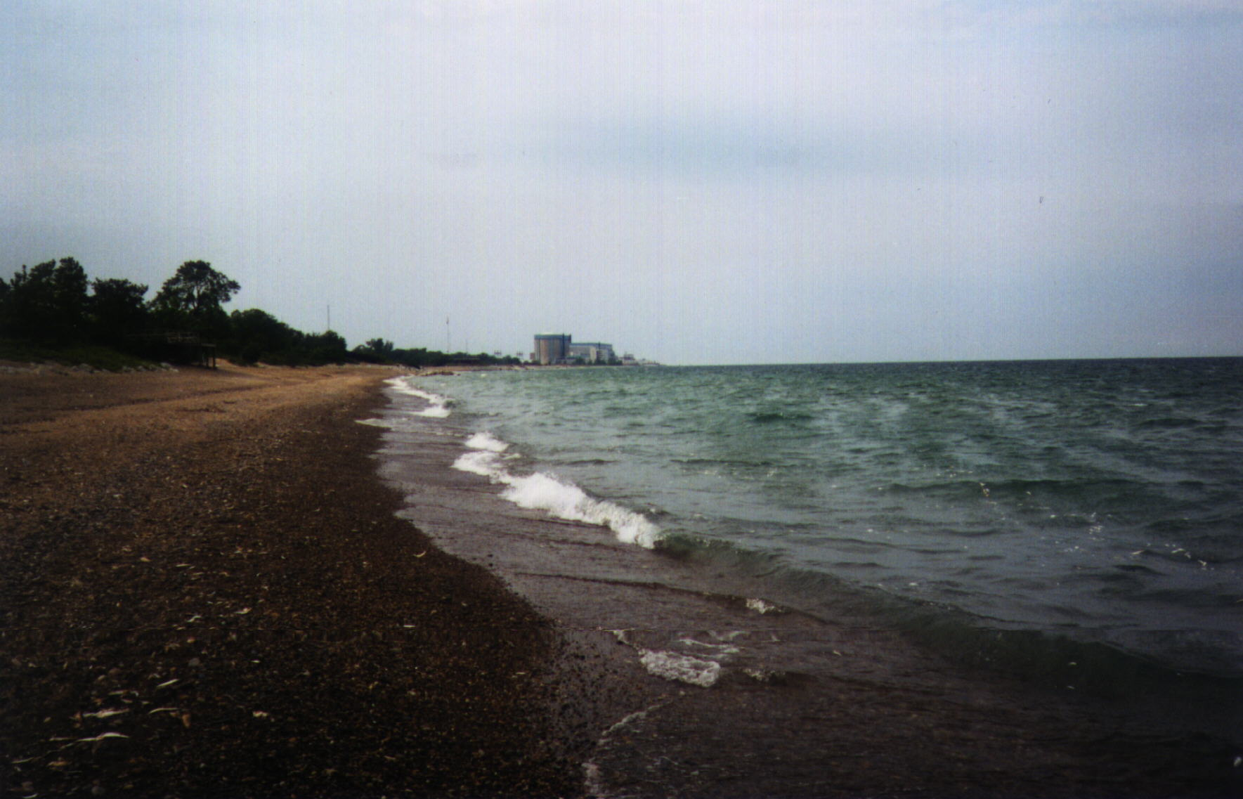 Illinois Beach State Park Zion Nuclear Plant In The Distance